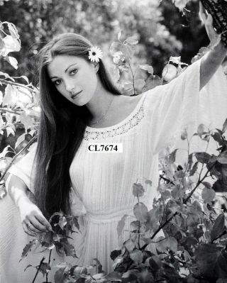 Jane Seymour In The Garden Of Her Home In Hollywood Hills Photo