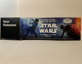 Star War: The Rise Of Skywalker Movie Dvd Blu - Ray Store Display Shelf Sign