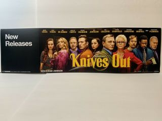 Knives Out Movie Dvd Blu - Ray Store Display Shelf Sign Chris Evans Daniel Craig