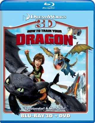 How To Train Your Dragon (blu - Ray/dvd,  2011,  2 - Disc Set,  3d)