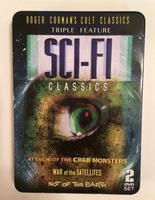Roger Forman's Cult Classics Triple Feature Dvd's Sci - Fi