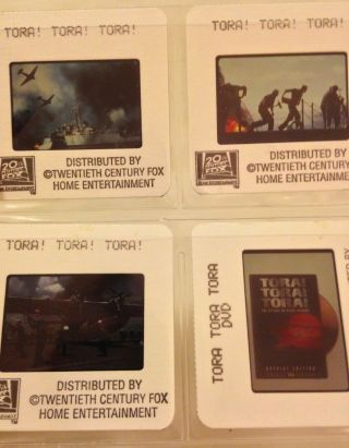 Tora Tora Tora (1970) Color Photo Slides (6) ; Dvd Release; Pearl Harbor; Wwii