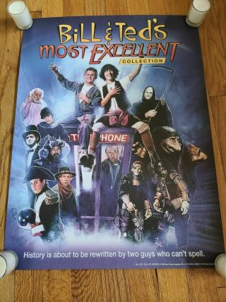 Bill And Ted Promo Blu Ray Dvd Bogus 18x24 Face The Music Rare