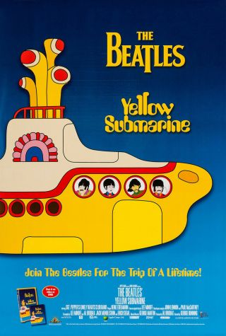 Yellow Submarine Dvd Movie Poster 1 Sided Vf 27x40 Beatles