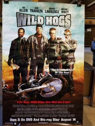 Wild Hogs 2007 27x40 Dvd Promotional Poster Rolled