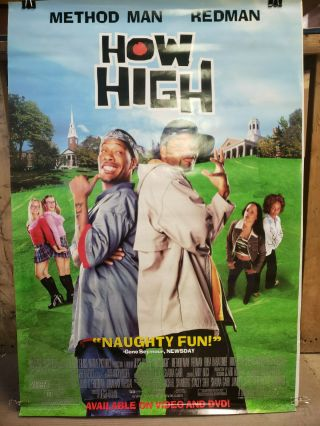 How High 2001 27x40 Rolled Dvd Promotional Poster