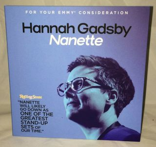 Hannah Gadsby: Nanette Dvd Live Stand Up Comedy Fyc 2019 Emmy Netflix Special