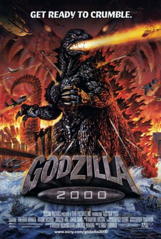 Godzilla 2000 (2000) Dvd/video Poster,  Ss,  Nm,  Rolled