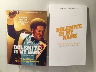 Dolemite Is My Name (2019) Screenplay Book Promo,  Fyc Dvd