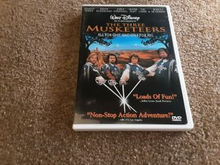 The Three Musketeers Dvd,  Charlie Sheen,  Tim Curry,  (1993 Oop) Out Of Print