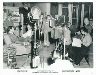 Grace Kelly Cast Camera Crew Director Alfred Hitchcock Candid Rear Window Photo
