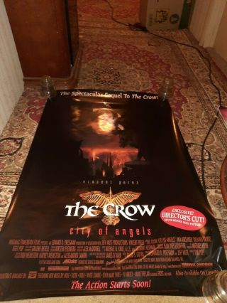 The Crow City Of Angels Dvd Movie Poster 1 Sided 27x40 Old Stock