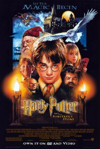 Harry Potter And The Sorcerer's Stone (2001) Dvd Poster,  Ss Nm,  Rolled