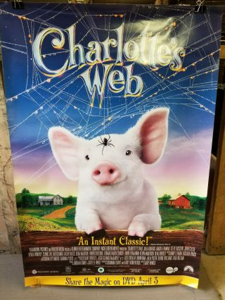 Charlottes Web 2007 Rolled 27x40 Dvd Promotional Poster