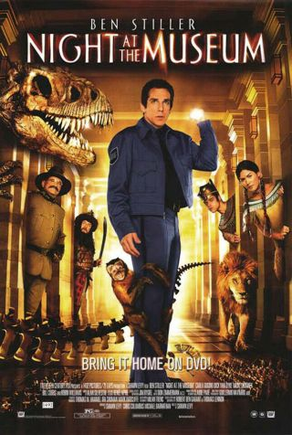 Night At The Museum (2006) Dvd/video Poster - Single - Sided - Rolled