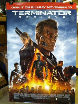 Terminator Genisys 2015 27x40 Rolled Dvd Promotional Poster