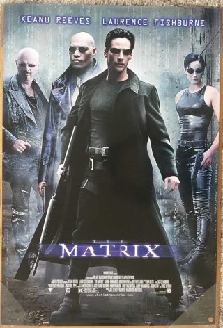 The Matrix Dvd Movie Poster 1 Sided 27x40 Keanu Reeves Carrie - Anne Moss