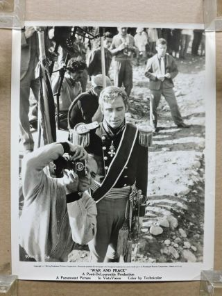 King Vidor With A Camera And Mel Ferrer Candid Photo 1955 War And Peace