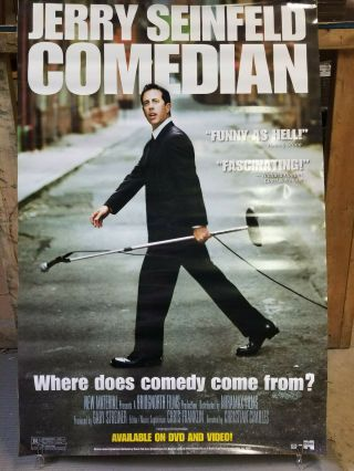 Jerry Seinfeld Comedian 2002 27x40 Rolled Dvd Promotional Poster