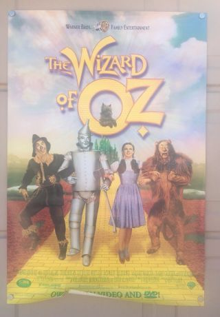 The Wizard Of Oz 27x40 Promotional Poster For Anniversary Release To Video/dvd.