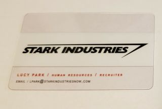 Stark Industries Business Card - Avengers Promo - San Diego Comic Con/sdcc -.