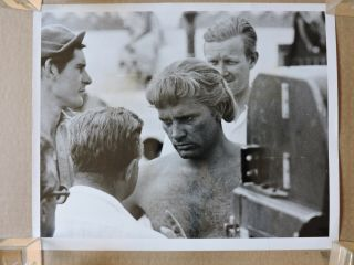 Richard Burton By The Camera Candid Photo 1956 Alexander The Great
