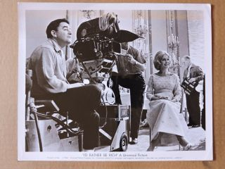 Jack Smight And Sandra Dee By The Camera Candid Photo 1964 I