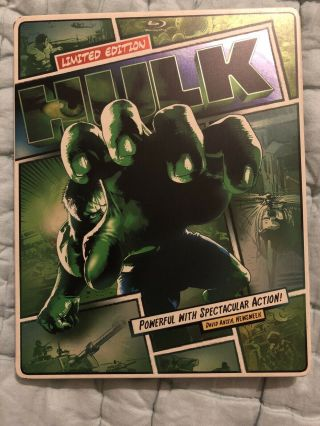 The Hulk Limited Edition Steelbook Blu - Ray,  Dvd Pre - Owned