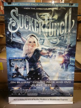 Sucker Punch 2011 27x40 Rolled Dvd Promotional Poster