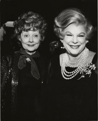 Lucille Ball & Virginia Graham Smile For The Camera Orig Press Photo,  Ca 1978