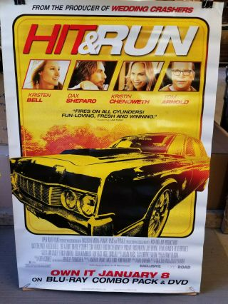 Hit And Run 2013 27x40 Rolled Dvd Promotional Poster