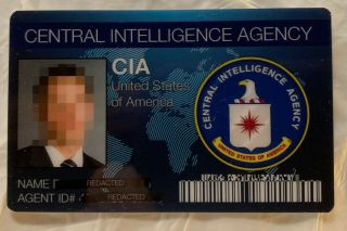 Cia Usa Central Intelligence Id Novelty Gag Drivers License Spy Secret Agent
