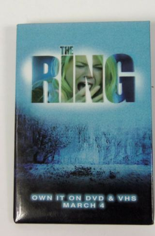 The Ring Dvd Vhs Movie Promotional Pinback Button