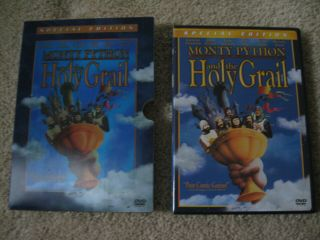 Monty Python And The Holy Grail Book Dvd Screenplay Senitype Cell Collectors Set