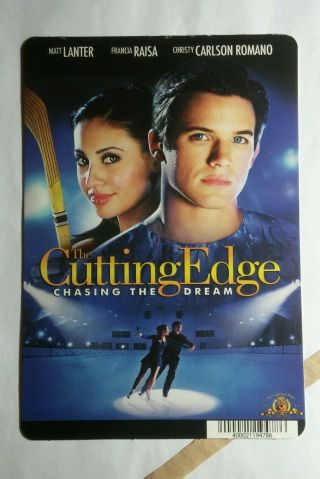 The Cutting Edge Chasing The Dream Mini Poster Backer Card (not A Dvd Movie)