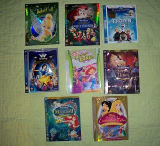 Dvd Sleeves Only Mermaid Strawbery Shortcake Snow White Tinkerbell Ariel Pirates
