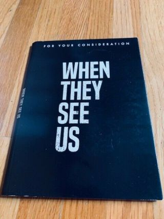 Fyc 2 Dvd Set - When They See Us Complete Series Netflix Fyc Emmy Ava Duvernay