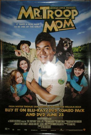 Mr.  Troop Mom,  Dvd Promotional Poster,  2009,  27x40,  George Lopez,  Jane Lynch