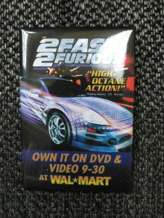 2 Fast 2 Furious Movie Pin Own Dvd & Video 9 - 30 At Walmart