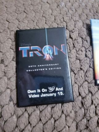 Tron 20th Anniversary Promo Dvd And Video Release Pin Button Retail Walt Disney