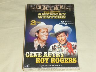 The Great American Western Gene Autry Roy Rogers 9 Movies 2 - Dvd Set