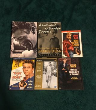 James Dean Memorabilia (dvd's,  Books)