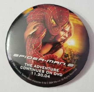 Spider - Man 3 Movie Dvd Release Promo Button Pin Badge 2004 Mary Jane Watson