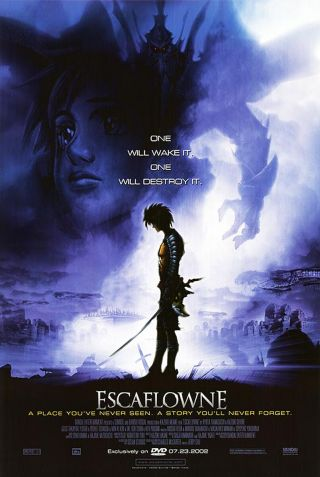 Escaflowne (2002) Dvd Movie Poster - Rolled