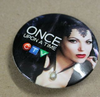 Once Upon A Time Dvd Tv Show Promotional Pin Of Lana Parrilla As The Evil Queen
