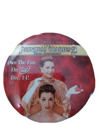 Walt Disney The Princess Diaries 2 Dvd Promo Movie Button
