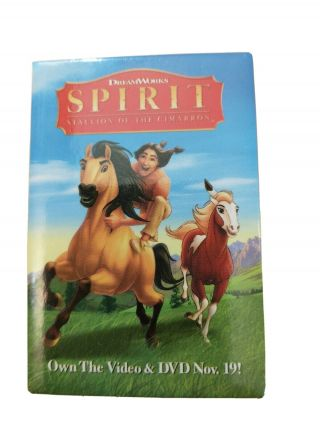 Spirit Stallion Of The Cimarron Dvd Promo Movie Button