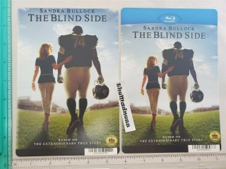 The Blind Side Dvd Blu Ray Backer Card Sandra Bullock Tim Mcgraw Quinton Aaron