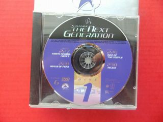 Dvd Star Trek The Next Generation Season 6 Disc 1 One Only Patrick Stewart