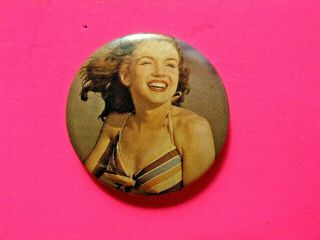 Marilyn Monroe Vintage Button Pin Badge Not Film Dvd Cd Poster Uk Made